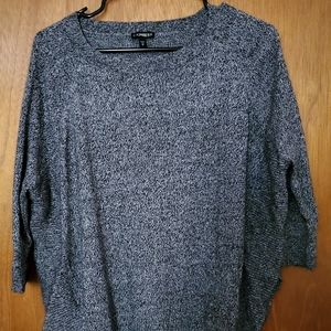Black and Gray Tunic Style Sweater